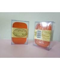 สบู่ใสบำรุงผิว (กลิ่น Leelavadee - ก้อนสีส้ม) ผสมสารสกัดจากใบมะกอก