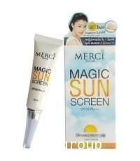 MERCI MAGIC SUNSCREEN SPF50 PA+++.กันแดดล่องหน
