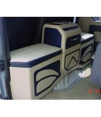 รถตู้หัวจรวด ทำคอลโซลเตี้ยพร้อมเบาะ 4500 บาท และหล่อกรอบลำโพงข้างTV 2ข้าง 3000 บาท