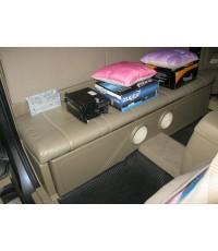 vigo open cab ตีตู้ใต้เบาะ เลือกสีหนังหุ้มตู้ได้ ราคาตู้ 3,500 บาท