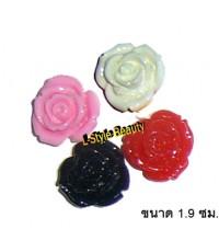ดอกกุหลาบตกแต่งมือถือ ขนาด1.9ซม.คละสี 3 ดอก