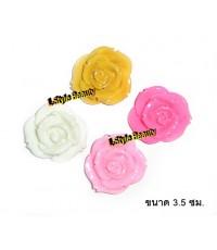 ดอกกุหลาบตกแต่งมือถือ ขนาด3.5ซม.เลือกสีได้ค่ะ