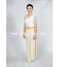 ชุดไทยจักรี สีครีม TC 000170