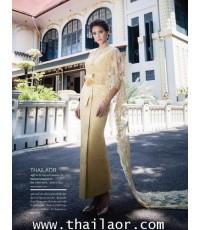 ชุดไทยจักรพรรดิ สีเหลืองทอง TEM 000580