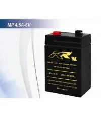 แบตเตอรี่แห้ง RR MP4.5A-6V 6V 4.5Ah VRLA