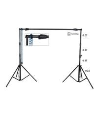 โครงฉากถ่ายภาพ 2.6 x 3.2 m โซ่หมุนฉาก ขาตั้งฉากหลัง Manual Chain Backdrop Support System Stand