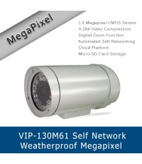 VIP-130M61 GKB D6122 8600 Self-Network Weatherproof Megapixel H.264 Cloud IP Camera with Infrared