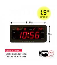 LED Calendar Alarm Wall/Table Clock 1018R