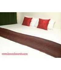 ชุดหมอนอิง+ผ้าคาดเตียงสีแดง (เกรดพรีเมี่ยม)