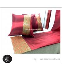 หมอนอิงและผ้าคาดเตียงสำหรับตกแต่งสไตล์บาหลี