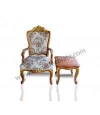 เก้าอี้หลุยส์ราคาถูกเฟอร์นิเจอร์ไม้สักแท้ พร้อมโต๊ะหลุยส์ (โต๊ะเคียง)ราคาเป็นกันเอง