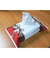 ผ้าไหมสังเคราะห์ ปลอกกล่องกระดาษทิชชู แบบกล่องสี่เหลี่ยม สำหรับใส่ทิชชู่ให้เป็นของขวัญ ของที่ระลึก