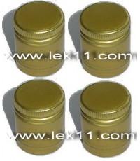 ฝาเกลียว สีทอง ขนาด 29 มิลลิเมตร ฝาขวดเหล้า ฝาขวดน้ำผึ้ง แสงโสมกลม, 100 Pipers, หงส์ทอง กลม,แบน ลังล