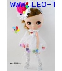 """FN327 Neo Blythe Outfit BHC """"Colourfull Balls Dress set"""""""