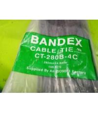 BANDEX CABLE TIE CT-280B-4C สีดำ ราคา 1.30 บาท