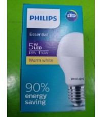 PHILIPS ESS LEDBULB 5W E27 3000K 230V 1CT/12APR ราคา 50 บาท