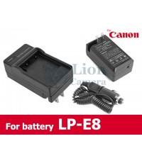 แท่นชาร์จแบตเตอรี่แคนนอน LP-E8 + สายชาร์จรถยนต์ Canon LP-E8 Battery Charger(EOS 550D,600D,650D,700D)