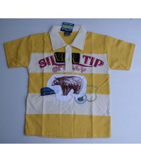 เสื้อคอปก LittleGiants ไซส์ 8 (5-6 ขวบ), 12 (9-10) --- สีเหลือง