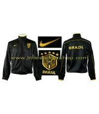 เสื้อวอร์มทีมชาติบราซิล สีดำขลิบเหลือง