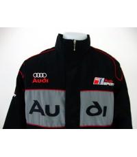 เสื้อแจ็คเก็ตทีมรถแข่งออดี้ สีดำ