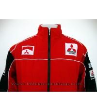 เสื้อแจ็คเก็ตทีมรถแข่งมิตซูบิชิ สีแดง