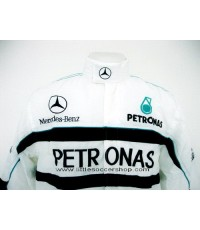 เสื้อแจ็คเก็ตทีมรถแข่งเมอร์เซเดส-เบนซ์ สีขาว