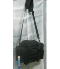 *กระเป๋าสะพาย+คาดเอวสีดำ
