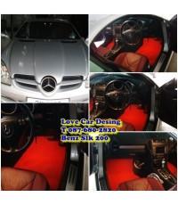 พรม ดักฝุ่นไวนิล สำหรับปูพื้นรถ Benz SLK 200