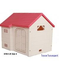 บ้านสุนัข บ้านแมว  สีชมพู