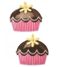 Gymboree Cupcake Clip Two Pack กิ๊บติดผมแพ็คคู่ลายเค้กน่ารักน่าหม่ำค่ะ (สินค้านำเข้า)