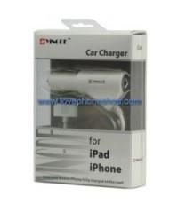 สายชาร์ตรถยนต์ YINGDE  2IN1 iPhone iPod มาพร้อมกับ port usb อีก1ช่อง (ส่งฟรี)