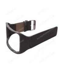 สายนาฬิกา หนังอย่างดี Samsung Gear S  (SM-R750) สีดำ   ส่งฟรี!!