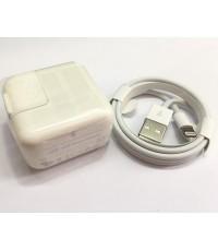 หัวชาร์ต12W+สายชาร์จ แท้ for iPhone 7/7Plus, 6/6Plus 5/5S และ Ipad (Lightning to USB Cable) ส่งฟรี..