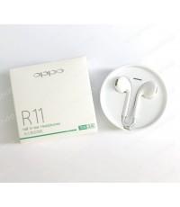 หูฟัง OPPO แท้ half In-ear Headphones รุ่น R11 ( สีขาว ) ส่งฟรี!!