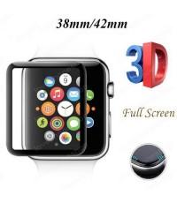 ฟิล์มกระจก 9H 3D Curve Fit ขอบดำเข้ารูป เนียน for Apple Watch 38mm. (รองรับ Series1/2/3) ส่งฟรี!!!