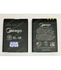 แบตเตอรี่ มอก. Meago สำหรับ Nokia รหัส BL-4B (ส่งฟรี)