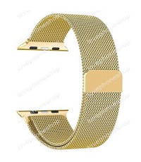 สายนาฬิกา Apple Watch Stainless Steel Mesh Milanese Loop สีGose Series1/2/3/4 -38,40 mm.(ส่งฟรี)