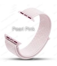 สายนาฬิกา Apple Watch Nylon Sport Loop ผ้าไนล่อนใส่สบาย สีPearl Pink(For Series1/2/3/4) 42,44mm.