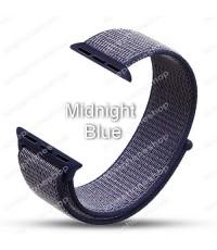 สายนาฬิกา Apple Watch Nylon Sport Loop ผ้าไนล่อนใส่สบาย สีMidnight Blue(For Series1/2/3/4) 42,44mm.