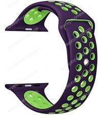 สาย Apple Watch Nike Sport Band 2 โทน สีPurple-Green (รองรับ Series1/2/3/4) 38,40 mm. (ส่งฟรี)