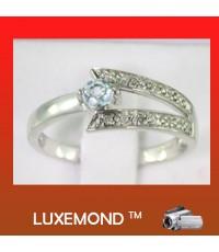 แหวนพลอยอวามาลีน (aquamaring ring) R2-34