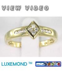 แหวนทองประดับซีแซดไดมอนด์ (CZ ring Gold 9K) R2-69
