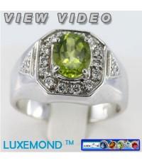แหวนชายพลอยเพอริดอทแท้ (Peridot Men Ring)R1-94