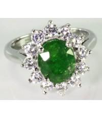 แหวนพลอยแท้ซาโวไลท์ การ์เน็ต (โกเมนเขียว) R1-61