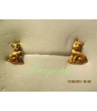 ต่างหูทองคำแท้ แมวเหมียว
