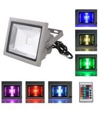 สปอร์ตไลท์ LED Flood Light 20W RGB เปลี่ยนสีได้ด้วยรีโมทคอนโทรล