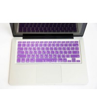 กันรอยคีย์บอร์ด สีม่วง มีภาษาไทย Silicone keyboard for macbook air 11
