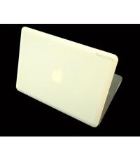 เคส สี Cream แบบด้าน ไม่เจาะโลโก้ macbook 12 inch