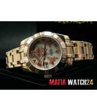 M0281 นาฬิกา Rolex Datejust Special Edition Everose Gold White Mother of Pearl Dial Mirror Ref.81315