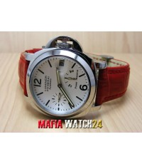 M0212 นาฬิกา Panerai Luminor Power Reserve Lady Boy Size 40 mm. Pam 90